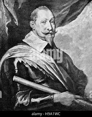 Gustav II Adolf, 9 December 1594 - 6 November 1632, ,widely known in English by his Latinised name Gustavus Adolphus - Stock Photo