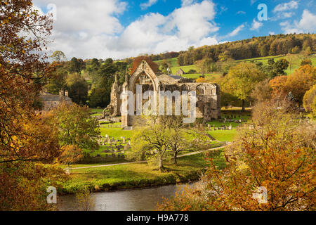 Bolton Priory Bolton Abbey Wharfedale Yorkshire Dales - Stock Photo