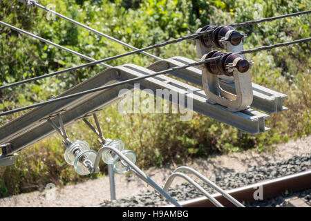 Catenary Train - Stock Photo