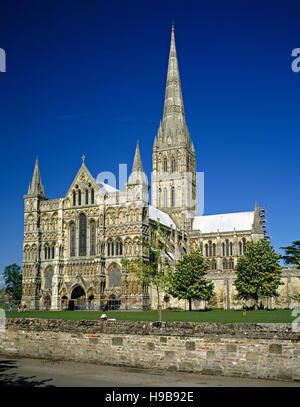 Salisbury Cathedral, Wiltshire, England, United Kingdom, Europe - Stock Photo