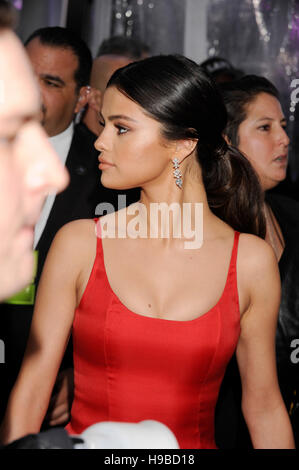 Selena Gomez arrives at the 2016 American Music Awards at Microsoft Theater on November 20, 2016 in Los Angeles, - Stock Photo