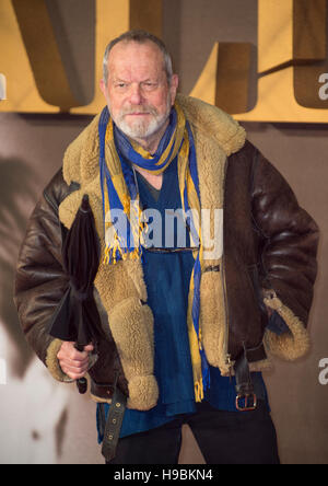 London, UK. 21st Nov, 2016.  Terry Gilliam attends the UK Premiere of 'Allied' at Odeon Leicester Square on November - Stock Photo