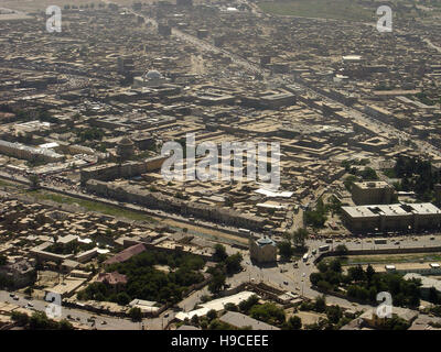 28th May 2004 Viewed from the top of the Asmai Heights (TV hill): an aerial view of Kabul looking to the east. - Stock Photo