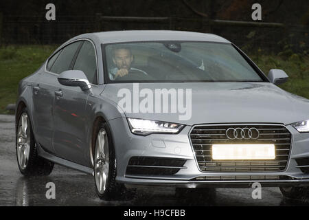 *EDITORS NOTE LICENSE PLATE PIXELATED BY PA PICTURE DESK* Gareth Southgate leaves St Georges' Park, Burton. - Stock Photo