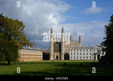 Lovely light on King's College, Cambridge, England. - Stock Photo