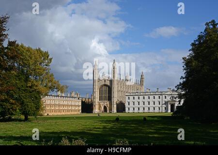 Lovely light on King's College, Cambridge, England. - Stock Photo