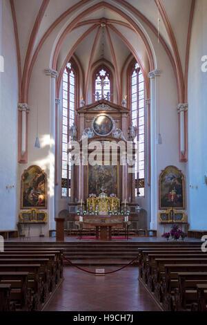 Collegiate Church of St. Peter and John the Baptist (12th c.), Berchtesgaden, Bavaria, Germany - Stock Photo
