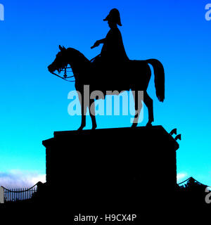 Wellington Statue at Round Hill, Aldershot, Hampshire, England, UK. - Stock Photo