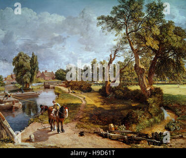 John Constable ( 1776 - 1837 )  Flatford Mill from a Lock on the Stour 1817 - Stock Photo
