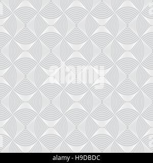Geometric seamless pattern. Texture with circular elements. Monochrome. Vector illustration - Stock Photo