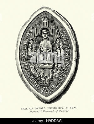 Seal of Oxford University, 1300 - Stock Photo