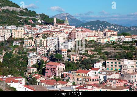 Aerial view of Vietri sul Mare, Salerno, Italy - Stock Photo