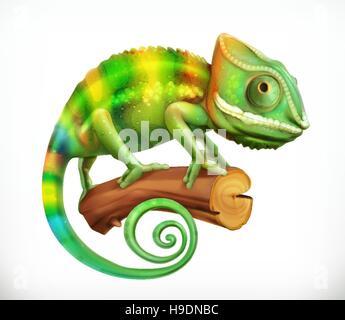 Chameleon. 3d vector icon - Stock Photo