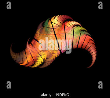 Colorful angel wing. Fractal graphics - Stock Photo