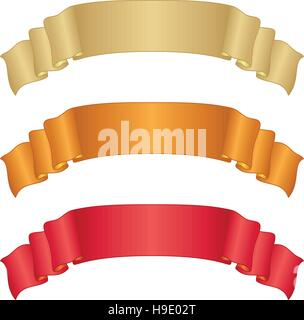 Banners ribbons, set - Stock Photo