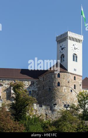 LJUBLJANA, SLOVENIA - SEPTEMBER 24, 2016: Ljubljana castle, Slovenia, Europe. - Stock Photo