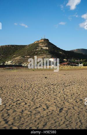 beach in Bosa Marina, Sardinia, Italy - Stock Photo