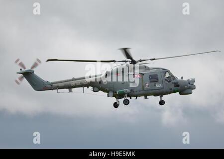 Royal Navy Westland Lynx HMA.8 ZD257 Helicopter at Biggin Hill Air Show 2014 - Stock Photo