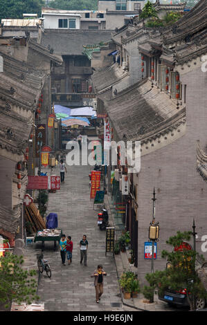 Buildings around Beilin District is one of nine districts of Xian, Shaanxi, China.  Area next to the wall of Xian - Stock Photo