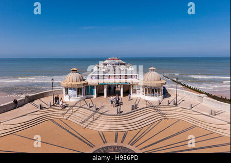 The Pier and beach in Cromer , Norfolk , England , Britain , Uk - Stock Photo