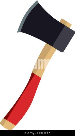 ax icon with wooden handle - Stock Photo