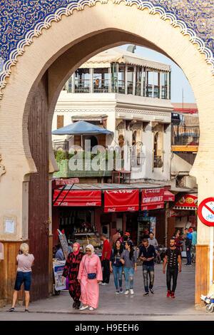 bab boujloud main entrance to the medina fez el bali fez