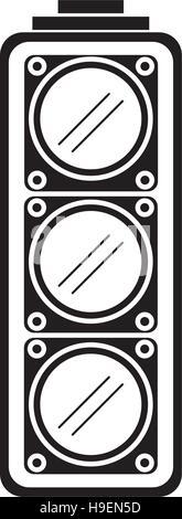 Isolated semaphore lights design - Stock Photo