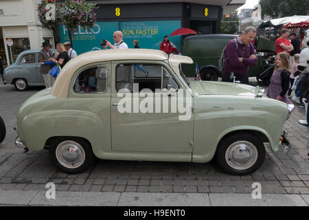 Austin A40 saloon at a classic car rally in Gloucester,England - Stock Photo