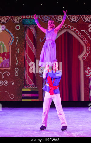 London, UK. 21 November 2016. The Imperial Ice Stars perform The Nutcracker on Ice at the Winter Palace Theatre - Stock Photo