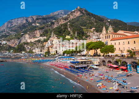 The beach of Amalfi, Campania, Italy - Stock Photo
