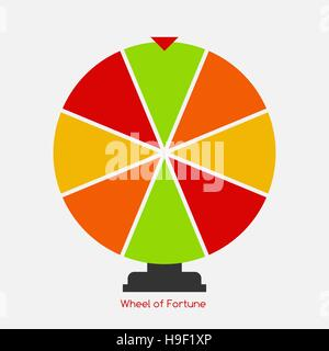 Wheel of Fortune, Lucky Icon. Vector Illustration - Stock Photo