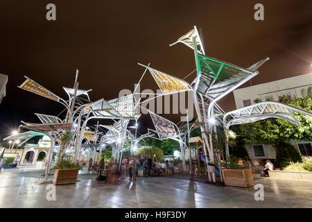 Plaza del Rey square at night in Cartagena. Region of Murcia, Spain - Stock Photo