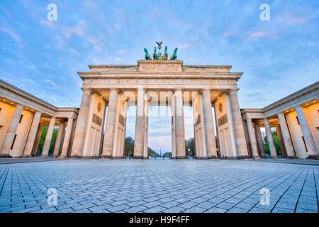 Nice sky in Berlin, The Brandenburg Gate in Berlin, Germany. - Stock Photo