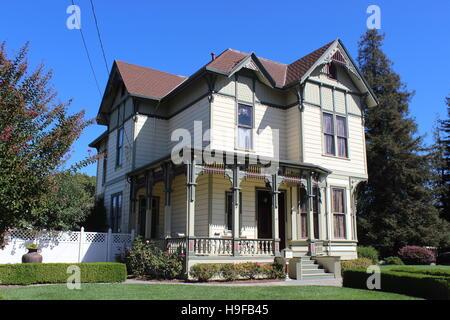 Eastlake Stick style House, Cherry Street, Santa Rosa, California - Stock Photo