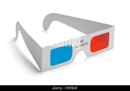 3D Movie Glasses Isolated on White Background. - Stock Photo