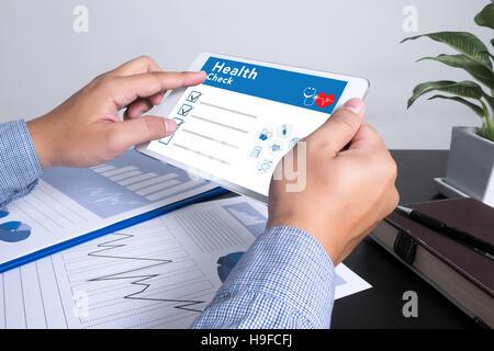 Digital Health Check Healthcare Concept - Stock Photo