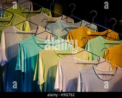 Clothing rack, Paris, France - Stock Photo