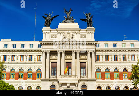 The Palacio de Fomento, Ministry of Agriculture in Madrid - Spain - Stock Photo