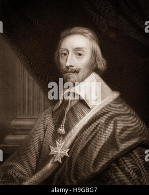Armand Jean du Plessis, cardinal-duc de Richelieu et de Fronsac, 1585 - 1642, a French clergyman, noble and statesman, - Stock Photo