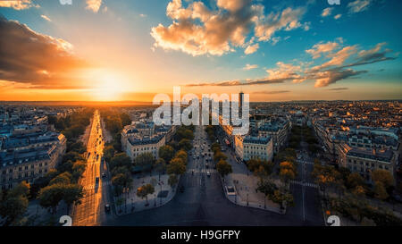 Champs-Elysees in Paris - Stock Photo