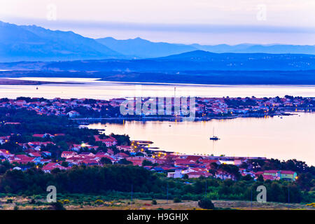 Vir island archipelago dawn view, Dalmatia, Croatia - Stock Photo