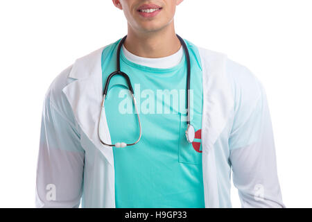 Young doctor with stethoscope heart medical - Stock Photo