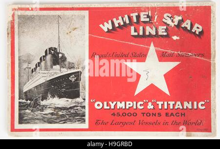 A Rare Promotional Brochure For The Titanic And Olympic That Is