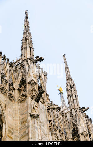 Spires on the roof of the Duomo di Milano (Milan Cathedral)