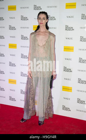 London, UK. 22nd Nov, 2016. Erin O'Connor attends The Design Museum VIP launch on November 22, 2016 in London, United - Stock Photo