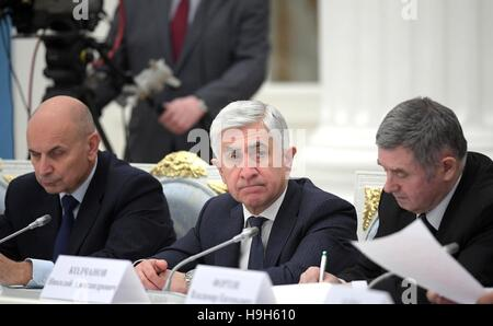 Moscow, Russia. 23rd Nov, 2016. Director of the Institute of Cytology and Genetics Federal Research Centre Nikolai - Stock Photo