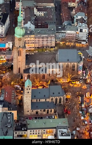 Dortmund, Germany. 23rd Nov, 2016. Aerial photo, Ev. Parish Saint Mary, Christmas Market, Dortmund, Ruhr Area, north - Stock Photo