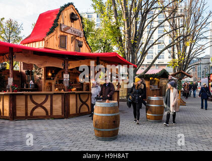 Berlin, Germany, 23 November, 2016. The Berliner Weihnachtzeit is a German Christmas market sited around the historic - Stock Photo