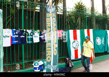 Sao Paulo, Brazil. 24th Nov, 2016. Palmeiras items of trade increased this week due to the club being a point of - Stock Photo