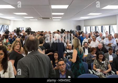 Sao Paulo, Brazil. 24th Nov, 2016. Sao Paulo mayor-elect Joao Doria, delivers a press conference in Sao Paulo, Brazil, - Stock Photo
